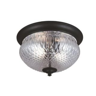 Sea Gull Lighting Garfield Park 2 Light Outdoor Black Ceiling Flush Mount with Clear Glass 7826402 12