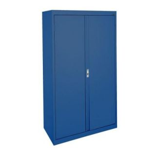 Sandusky System Series 30 in. W x 64 in. H x 18 in. D Double Door Storage Cabinet with Adjustable Shelves in Blue HA3F301864 06