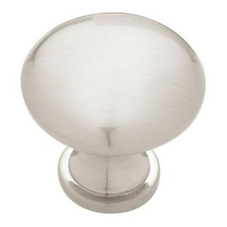 Liberty Hardware Satin Nickel 1 1/4 in. Cabinet Hardware Solid Round Knob P50154H STN C