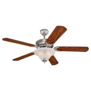 Sea Gull Lighting Quality Pro Deluxe 52 in. Indoor Brushed Pewter Ceiling Fan 15160B 255