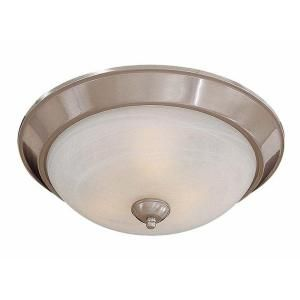 Minka Lavery 3 Light Brushed Nickel Flush Mount 893 84