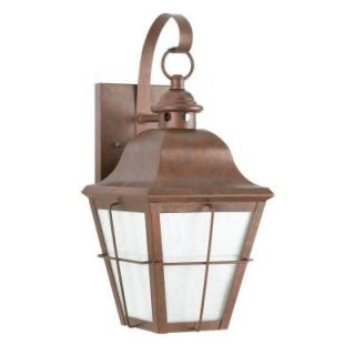 Sea Gull Lighting Chatham Wall Mount 1 Light Outdoor Weathered Copper Fixture 8462D 44