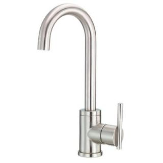 Danze Parma Single Handle Bar Faucet with Side Mount Lever Handle in Stainless Steel D151558SS
