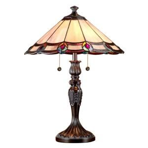 Dale Tiffany Aldridge 22 in. Antique Bronze Art Glass Table Lamp TT101081J