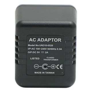 HCPower Lawmate Brand AC Adapter with Hidden Spy Camera DVR and Time/Date Stamp HCPOWERPLUS