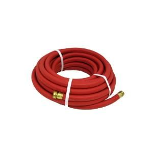 Contractors Choice Endurance 3/4 in. x 100 ft. Red Rubber Garden Hose RGH3/4X100