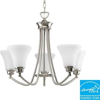 Progress Lighting Janos Collection Brushed Nickel 5 light Chandelier DISCONTINUED P4483 09EBWB