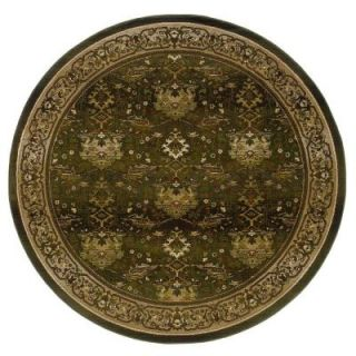 Home Decorators Collection Expressions Peace Hunter Green 6 ft. Round Area Rug DISCONTINUED 299140