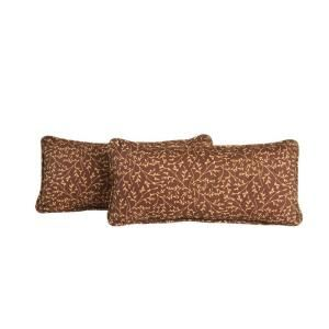Hampton Bay Rosemarket Outdoor Lumbar Pillow (2 Pack) XSC 1786