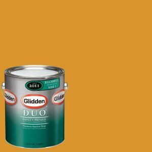 Glidden Team Colors 1 gal. #NFL 166A NFL Arizona Cardinals Yellow Eggshell Interior Paint and Primer NFL 166A E 01