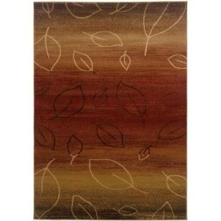 LR Resources Contemporary Cherry and Light Brown 1 ft. 10 in. x 3 ft. 1 in. Plush Indoor Area Rug LR80904 CYBW23