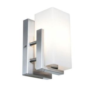 Filament Design Vista 1 Light Wall Brushed Steel Incandescent Sconce   DISCONTINUED CLI CE 0192 7 56
