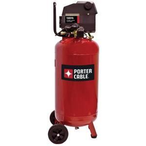 Porter Cable 26 Gal. Vertical Portable Electric Air Compressor PXCMF226VW