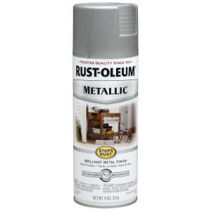 Rust Oleum Stops Rust 11 oz. Protective Enamel Metallic Matte Nickel Spray Paint 7277830