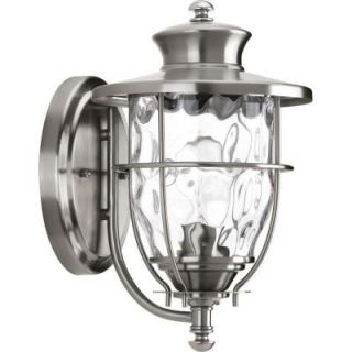 Progress Lighting Beacon Collection Wall Mount 1 Light Outdoor Stainless Steel Lantern P6026 135DI