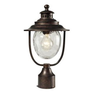Titan Lighting 1 Light Outdoor Regal Bronze Post Light TN 8404