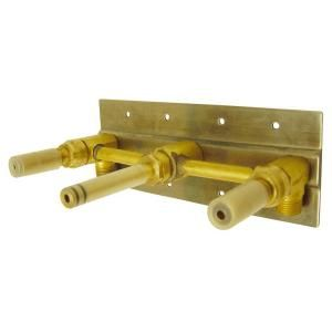 Danze 2 Handle Wall Mount Rough In Valve with Mounting Plate in Rough Brass D106800BT