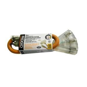 RIDGID 2 ft. 12/3 Extension Cord AW62629
