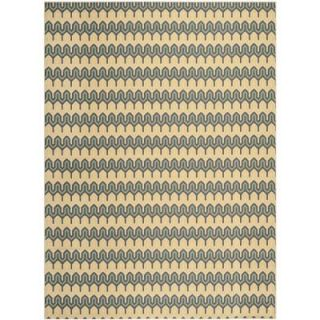 Safavieh Hampton Green/Light Blue 8 ft. x 11 ft. Area Rug HAM516AG 8