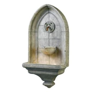 Kenroy Home Canterbury Indoor/Outdoor Lighted Wall Fountain 53265CT