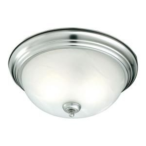 Thomas Lighting 2 Light Flush Mount Brushed Nickel Ceiling Fixture SL869278