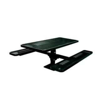 Ultra Play 6 ft. Diamond Black Commercial Park Surface Mount Rectangular Table PBK337SM V6BK