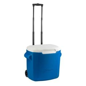 Coleman 16 qt. Wheeled Cooler Blue 3000001170