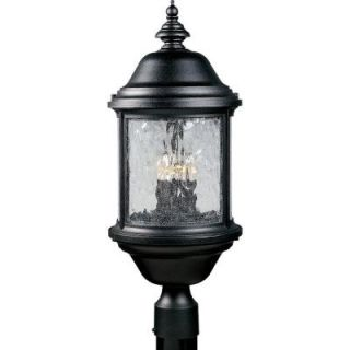 Progress Lighting Ashmore Collection Textured Black 3 light Post Lantern P5450 31