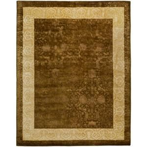Safavieh Silk Road Chocolate and Light Gold 7 ft. 6 in. x 9 ft. 6 in. Area Rug SKR211A 8