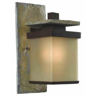 Hampton Bay Quarry 1 Light Outdoor Natural Slate Wall Lantern HDP11968