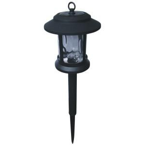 Hampton Bay Solar LED Pathway Light with Metal Top Plastic Cage and Glass Lens (9 Pack) GX 1933 MPG