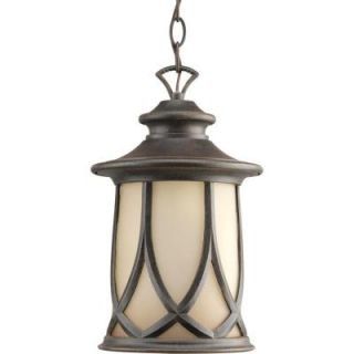 Progress Lighting Resort Collection 1 Light Outdoor Aged Copper Hanging Lantern P6504 122DI