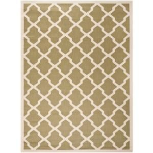 Safavieh Courtyard Green/Beige 8 ft. x 11 ft. Area Rug CY6903 244 8