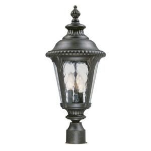 Acclaim Lighting Surrey Collection 3 Light Outdoor Black Gold Post Light Fixture 7217BG
