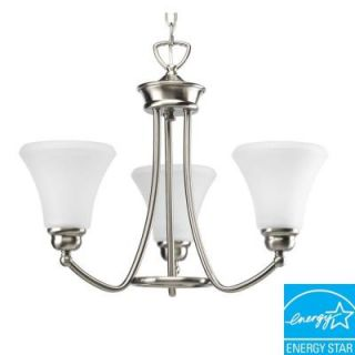 Progress Lighting Janos Collection Brushed Nickel 3 light Chandelier DISCONTINUED P4481 09EBWB