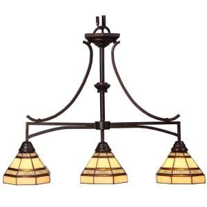Hampton Bay Addison 3 Light Oil Rubbed Bronze Kitchen Island Light 14789