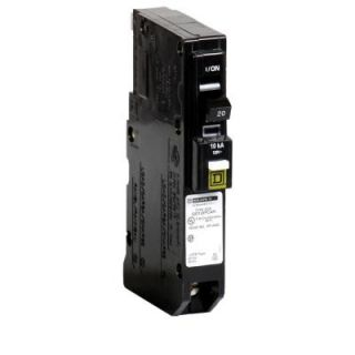 Square D by Schneider Electric QO 20 Amp Single Pole Plug on Neutral CAFCI Circuit Breaker QO120PCAFI
