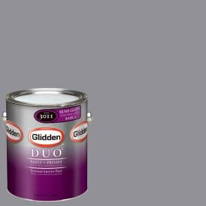 Glidden Team Colors 1 gal. #NFL 104C NFL Philadelphia Eagles Silver Semi Gloss Interior Paint and Primer NFL 104C SG 01