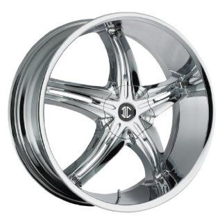 24 inch 24x10.0 2Crave No. 15 Chrome wheel rim; dual drilled 5x135 / 5x5.5 5x139.7 with a +15 offset. Part Number N15 2410T15PC Automotive