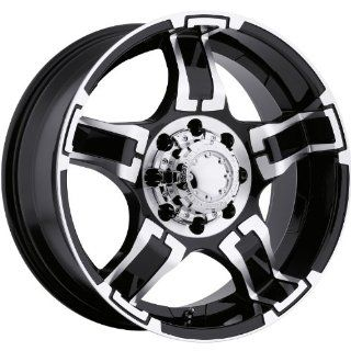 Ultra Drifter 16 Black Wheel / Rim 8x6.5 with a  6mm Offset and a 125 Hub Bore. Partnumber 194 6881B Automotive