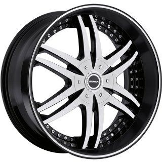 Strada Denaro 22 Machined Black Wheel / Rim 5x4.75 & 5x5 with a 18mm Offset and a 78.1 Hub Bore. Partnumber S12250618BM Automotive