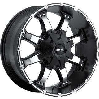 MKW Offroad M83 16 Black Machined Wheel / Rim 6x5.5 with a 0mm Offset and a 106.20 Hub Bore. Partnumber M83 1680655000B Automotive
