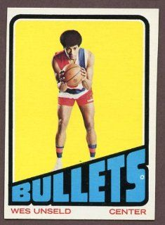 1972 73 Topps #021 Wes Unseld Bullets NR MT 187515 Kit Young Cards Sports Collectibles
