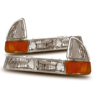 1997 2001 Dodge Dakota Euro Front Bumper Parking Lights /w Amber Automotive