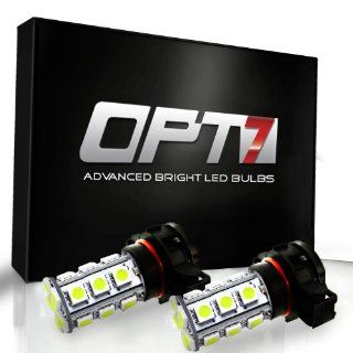OPT7� 5202 Advanced Bright 27 SMD LED Fog Light Bulbs   6000K Cool White   Plug n Play (Pack of 2) Automotive