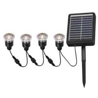 Kenroy Home 2 in. Outdoor Solar String Black Deck Light (4 Pack) HDP12011