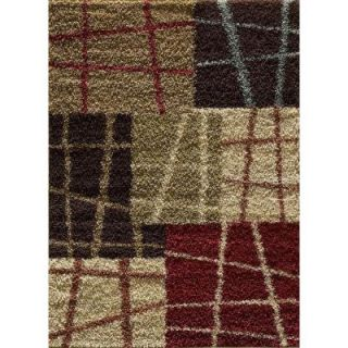 Tayse Rugs Casual Shag Multi 7 ft. 10 in. x 9 ft. 10 in. Transitional Area Rug 8520  Multi  8x10