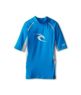 Rip Curl Kids Wave S/S Rashguard Boys Swimwear (Blue)