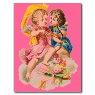 VALENTINES DAY VICTORIAN ERA CUPID LOVE POST CARD