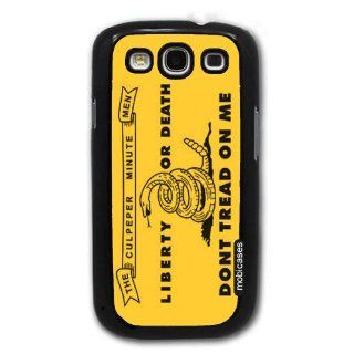 Flag of Culpeper Minutemen   Liberty Or Death Dont Tread On Me   Protective Designer BLACK Case   Fits Samsung Galaxy S3 SIII i9300 Cell Phones & Accessories